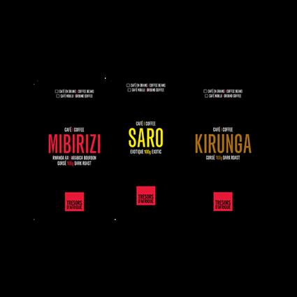 Trio Trésor - Cafés Trésors d'Afrique